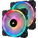Corsair LL140 RGB 2er Pack 140x140x25mm 600-1300 U/min 25 dB(A) schwarz/weiß