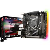 MSI Z370I GAMING PRO CARBON Intel Z370 So.1151 Dual Channel DDR4 Mini-ITX Retail