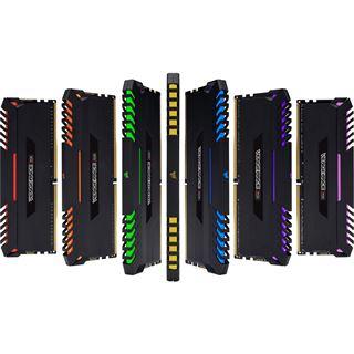 64GB Corsair Vengeance RGB schwarz DDR4-2666 DIMM CL16 Quad Kit